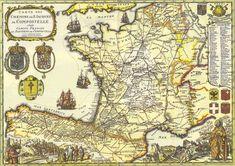 Carte des Chemins de Saint Jacques de Compostelle, 1648 - Camino Francés de Santiago de Compostela