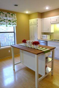 STENSTORP IKEA  Kitchen island, white, oak  $399.00