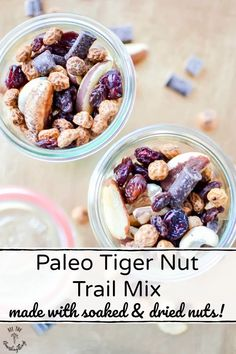 Need the perfect healthy snack for road trips or the trails? This Paleo Tiger Nut Trail Mix is it! It's loaded with resistant starch from tiger nuts, plus nourishing soaked and dried cashews and Brazil nuts. This is an easy, Real Food snack mix that can go wherever you go! #allthenourishingthings #trailmix #snackmix #tigernuts #resistantstarch #healthysnacks Nut Recipes, Real Food Recipes, Crockpot Recipes, Snack Recipes, Free Recipes, Baking Recipes, Vegetarian Recipes, High Protein Snacks, Healthy Snacks