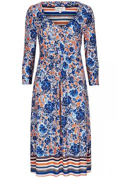 Love the print on this floral flare dress from M&S!