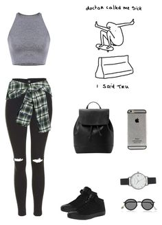 """""""Untitled #80"""" by griffinariel ❤ liked on Polyvore featuring Topshop, Faith Connexion, Converse, MANGO, Acne Studios and Olivia Burton"""