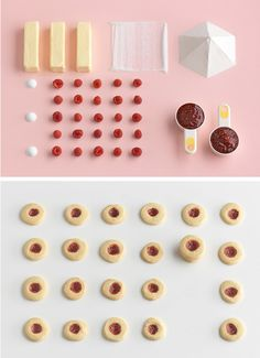 I <3 these deconstructed ingredient diptychs from the Ikea Homemade is Better book. Stylist Evelina Bratell & photographer Carl Kleiner. #food #photography #styling