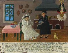 В день свадьбы моей дочки Дориты ее жених не явился, и она была совершенно подавлена. Я взмолилась Деве Сапопанской, чтобы моей дочке полегчало и чтобы она больше не страдала от пережитого унижения. Пресвятая Дева смилостивилась, и вскоре мы услышали чудесные вести: Хосе Антонио, тот самый жених, был сбит грузовиком и попал в больницу. Благодарю Деву Сапопанскую, так как свадьба сорвалась из-за аварии, а не потому что Хосе бросил мою дочь у алтаря.