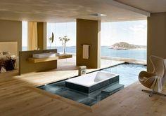 Verdadeiros santuários de relaxamento, tomar um bom banho nestes banheiros deveria ser uma daquelas recomendações médicas para viver mais e...