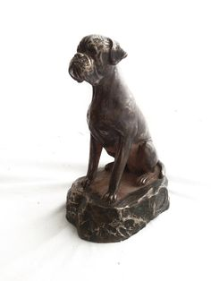 Dog Statue, Buddha Dog, Meditating Dog Statue, Zen Cement