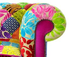 Bespoke Patchwork Chesterfield Armchair Designers Guild Fabric