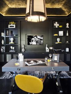 I don't want this exact room, but there's something about it.....Eclectic Home-offices from sfa design on HGTV