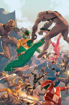 Así de poderosos se verán los Power Rangers en su nuevo cómic   Atomix