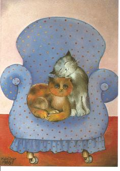 snugglebugs, sharing the comfy spot ~~ Renate Koblinger♥•♥•♥
