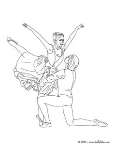 ballet dancers performing a porte coloring page
