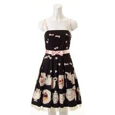 Emily Temple Cute Teacup Ribbon Jsk in black.   I FINALLY GOT IT!!!!