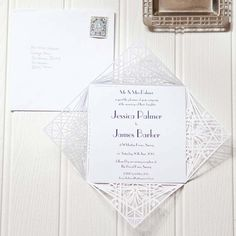 Art deco wedding invitations from Elinor Rose Wedding Stationery