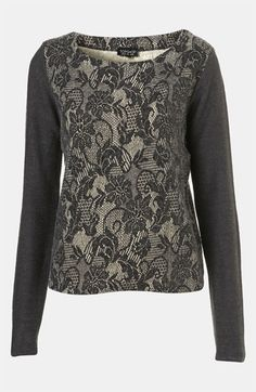 Topshop Lace Sweater available at #Nordstrom