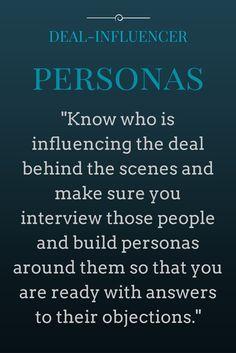 Influencers Buyer Personas