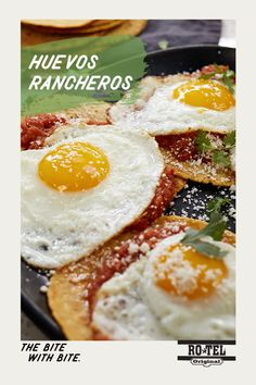 Wake up, taste buds! Huevos Rancheros take a breakfast classic in eggs and adds some extra spice with new Ro*Tel Chipotle. Perfect for a quick morning meal when you're craving something spicy.