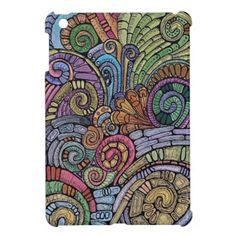 Pastel Scrolls iPad Mini Case  #iPads #ipadminis #rainbows #gadgets