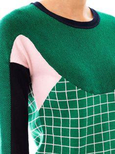 Erdem Tracy Ski Tuileries multi-panel sweater