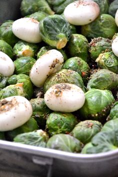 #Brussels #Sprouts Oven Roasted with #Cacao