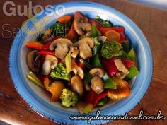 Receita de Salada de Legumes com Cogumelos Salada Light, Kung Pao Chicken, Potato Salad, Side Dishes, Salads, Low Carb, Menu, Vegetables, Ethnic Recipes