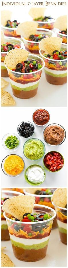 Individual 7 Layer Bean Dips - Good bye sloppy scooping and double dippers!