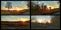 Photo #Print Set #Tennessee #Sunset November Sun Autumn photography by FernwehFreya on Etsy
