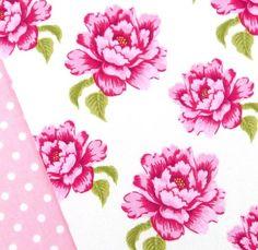 Tilda Sewing bird, dark pink and white peony fabric / quilting cushions cerise | eBay