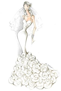 Wedding dress sketch #sketches #bocetos #novias