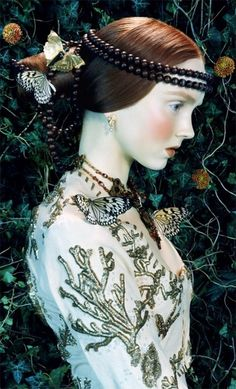 Butterflies • Lily Cole • Miles Aldridge • Magical Thinking • Tim Walker • Golden Wing