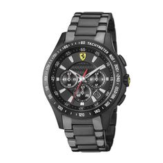 Chronomètre Scuderia Ferrari en acier noir
