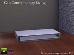 TheNumbersWoman's Gab Contemporary Living Coffee Table