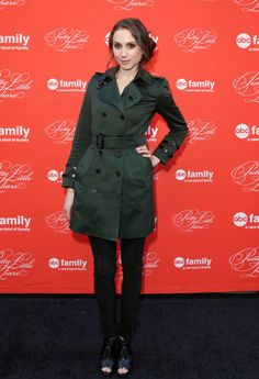 Who needs a Red Coat when you could rock a green coat like Troian's?
