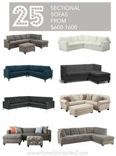 Great online resource. List of chic inexpensive sectional sofas.