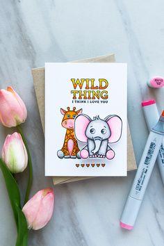 Simon Says Stamp | Wild Thing - I Think I Love You. April 2017 Card Kit