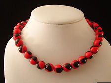 Gorgeous Art Deco Red & Black Checkered Bi-Colored Stack-able Vintage Plastic Necklace   #vintage #Vintagejewelry #antique #antiquities #diy #doityourself #jewelry #jewels #gems #forgottentreasurez #forgottentreasures #thrifty #thrifting #thriftshop #thriftstore #ebay #etsy #forsale #gems #rhinestones #collectible #collectable #memorabilia #crafts #artsandcrafts #jewelrymaking #repurpose #repurposed #rhinestone #sterling #sterlingsilver #retro #artdeco #bakelite