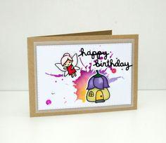 carte happy birthday petite fée!