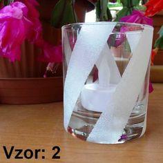 Svietnik sklenený mix vzorov - Sviečka - S čajovou sviečkou LED (plus 1€), Vzor - Vzor 2