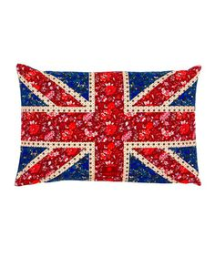 Long Flower Power Union Jack Cushion, Liberty of London...BRILLIANT