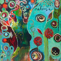 """Flora Bowley is an internationally celebrated painter, workshop facilitator & author of Brave Intuitive Painting. Learn how to: """"let go, be bold and unfold."""""""