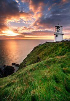 Blackhead Antrim Lighthouse, Ireland.