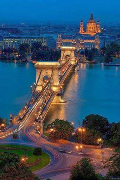 chain bridge budapest - If the Golden Gate Bridge and the London bridge had a love child. Is everything better in budapest? Places Around The World, Oh The Places You'll Go, Places To Travel, Places To Visit, Around The Worlds, Travel Destinations, Wonderful Places, Beautiful Places, Amazing Places