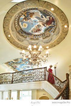 Imago Dei, Ad Majorem dei Gloriam. Mural in Turret Dome, Ceiling & Walls.