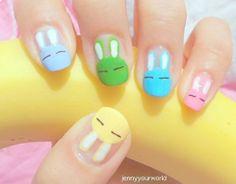 Colors bunny nails