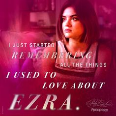 "Aria - 6 * 20 ""Hush, Hush, Sweet Little Liars"" Sweet Little Liars, Frases Pretty Little Liars, Pretty Little Liars Series, Pretty Litle Liars, Aria Montgomery, Ezra And Aria, Pll Quotes, Ezra Fitz, Secrets And Lies"