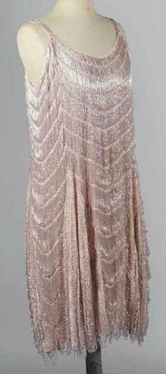 Pearled flapper evening dress, ca. 1925, French