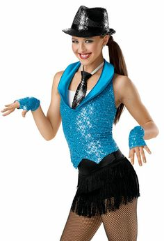 friend like me... somehow re-accessorized for trashin the camp... right Sequin Halter Vest with Leotard; Weissman Costumes