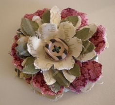 Directions for Fabric Flowers   Creative Chatter: New Direction...Making Shabby Fabric Flower Brooches ...