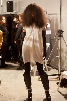 Youth and pop culture provocateurs since Fearless fashion, music, art, film, politics and ideas from today's bleeding edge. Declaration Of Independence, Rick Owens, Fancy Dress, Pop Culture, Fur Coat, Women Wear, Backstage, Boots, Jackets