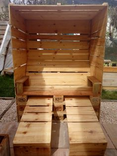 Strandkorb :)                                                                                                                                                     Mehr (Outdoor Wood Pallet)