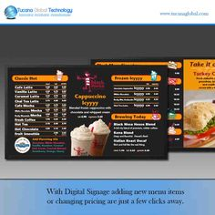 With #DigitalSignage adding new menu #items or changing #pricing are just a few…