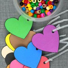 fine motor hearts lacing activity for preschool and kindergarten